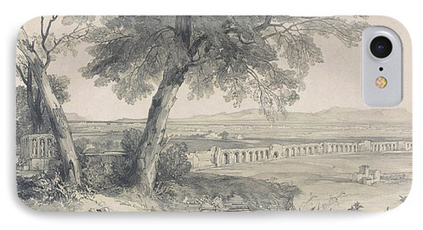 Campagna Of Rome From Villa Mattei Phone Case by Edward Lear