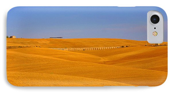 Tarquinia Landscape Campaign With Aqueduct And Houses IPhone Case