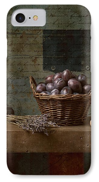 Campagnard - Rustic Still Life - S01otxt1ds1 IPhone Case by Variance Collections