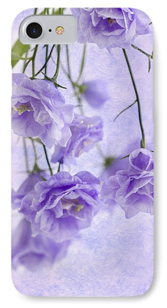 Campanella Blossoms Suspended - Macro IPhone Case by Sandra Foster