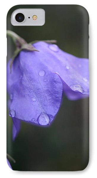 Campanula After The Rain Phone Case by Mark Severn