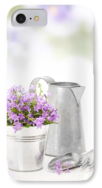 Campanula Flowers IPhone Case by Amanda Elwell