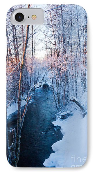 Campbell Creek In Hoarfrost IPhone Case