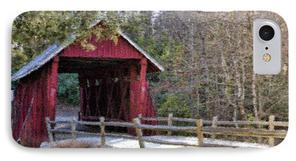 Campbell's Covered Bridge - Van Gogh Style IPhone Case