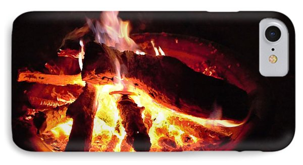 IPhone Case featuring the photograph Campfire by Ludwig Keck