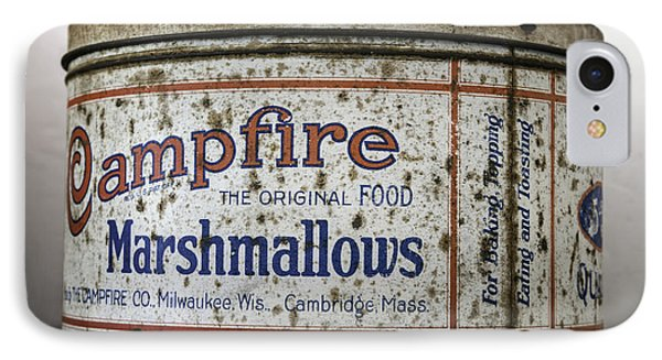 Campfire Marshmallows Tin Phone Case by Lynn Palmer