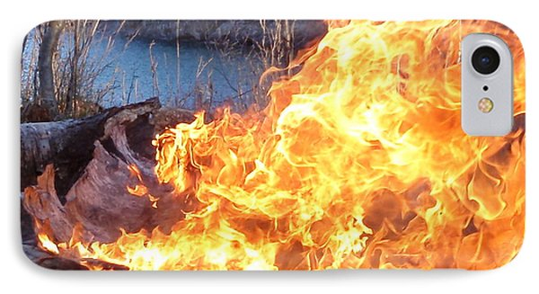 IPhone Case featuring the photograph Campfire by James Peterson