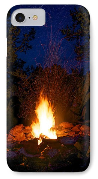 Campfire Under The Stars IPhone 7 Case