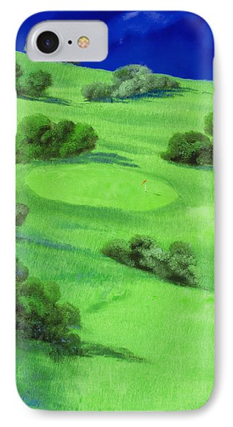 Campo Da Golf Di Notte Phone Case by Guido Borelli