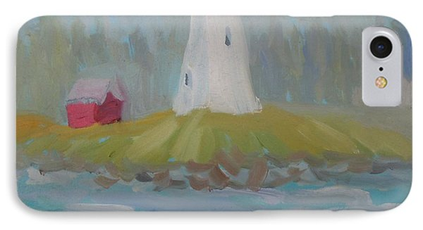 IPhone Case featuring the painting Campobello Lighthouse by Francine Frank