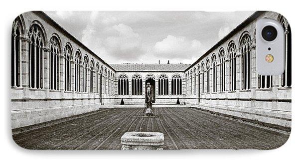 Camposanto Monumentale In Sepia IPhone Case by Susan Schmitz