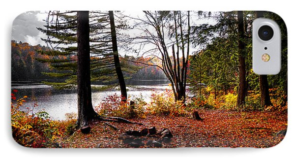 Campsite On Cary Lake Phone Case by David Patterson