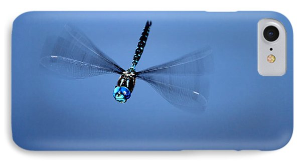 IPhone Case featuring the photograph Canada Darner Dragonfly Flying by Peggy Collins