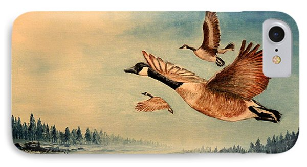 Canada Geese IPhone Case by Bill Holkham