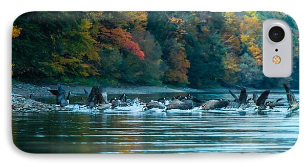 Canada Geese Taking Flight Phone Case by Steve Clough