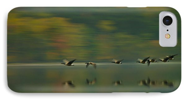 Canada Geese Whoosh Phone Case by Steve Clough