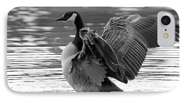 Canada Goose Black And White IPhone Case by Sharon Talson