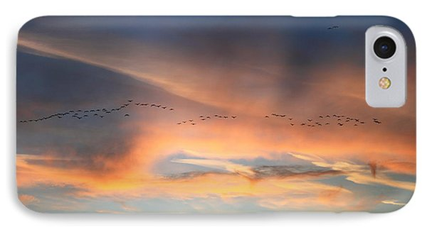 Canada Goose Flock Sunset Phone Case by John Burk