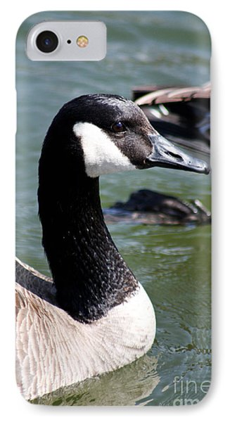 IPhone Case featuring the photograph Canada Goose Profile by Anita Oakley