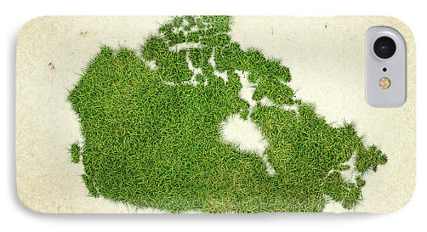 Canada Grass Map Phone Case by Aged Pixel