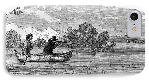 Canada Hunting, 1858 IPhone Case by Granger