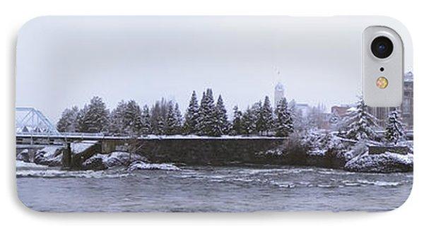 Canada Island And Spokane River Phone Case by Daniel Hagerman