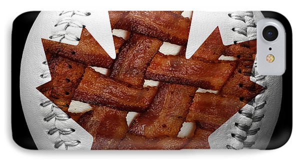 Canadian Bacon Lovers Baseball Square Phone Case by Andee Design