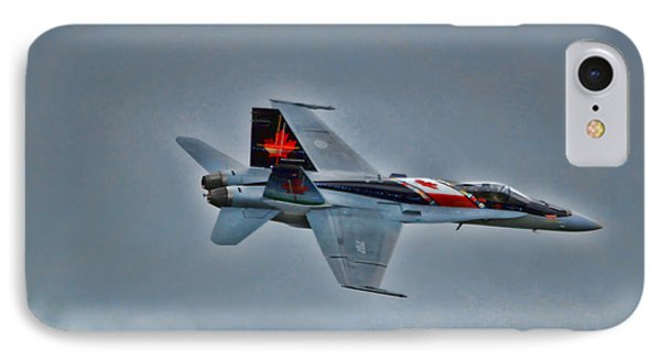 Canadian Cf18 Hornet Fly By IPhone Case by Cathy  Beharriell