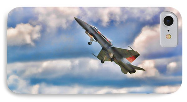 Canadian Cf18 Hornet Taking Flight  IPhone Case by Cathy  Beharriell