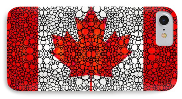 Canadian Flag - Canada Stone Rock'd Art By Sharon Cummings Phone Case by Sharon Cummings