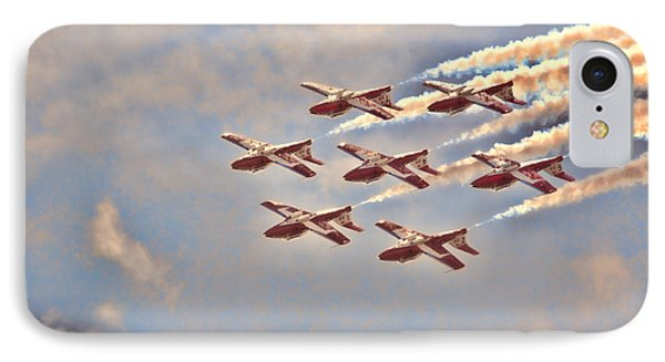 Canadian Forces Snowbirds 2013 Upside Down Formation IPhone Case by Cathy  Beharriell