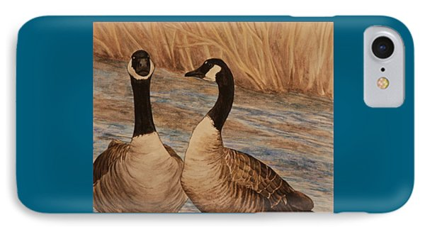 Canadian Geese IPhone Case by Michelle Miron-Rebbe