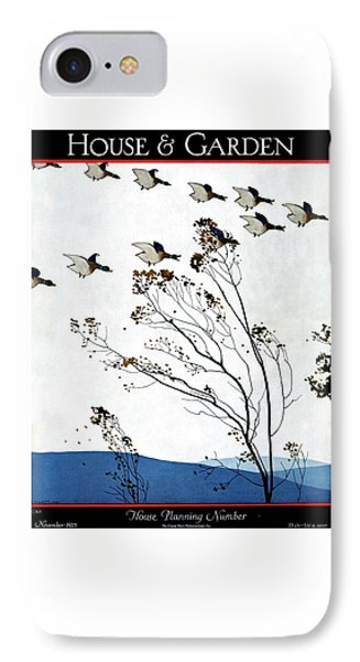 Canadian Geese Over Brown-leafed Trees IPhone Case