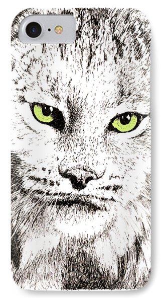Canadian Lynx IPhone Case by Paul Kmiotek