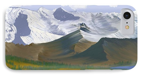 IPhone Case featuring the digital art Canadian Rockies by Terry Frederick