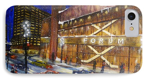 Canadiens Hockey At Montreal Forum IPhone Case by Brent Arlitt