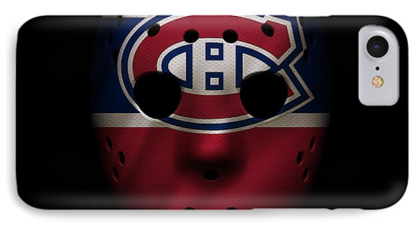 Canadiens Jersey Mask IPhone Case