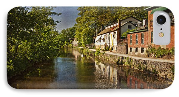 Canal Along The Porkyard IPhone Case by Debra Fedchin