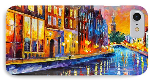 Canal In Amsterdam Phone Case by Leonid Afremov