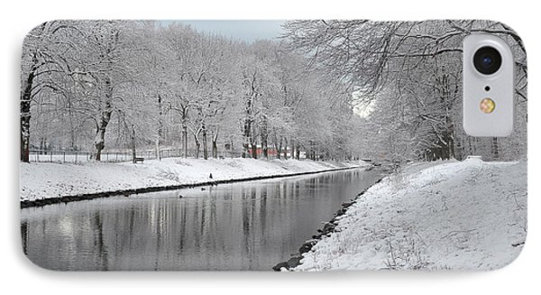 IPhone Case featuring the photograph Canal In Winter by Randi Grace Nilsberg