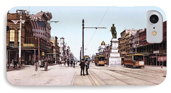 Canal Street New Orleans 1900 IPhone Case