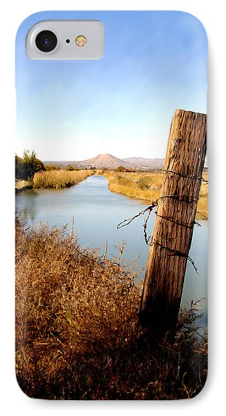 Canal View  Mesilla IPhone Case by Kurt Van Wagner