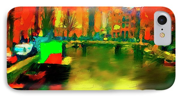 Canals Of Amsterdam IPhone Case by Ted Azriel