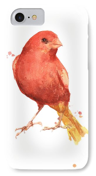 Canary Bird IPhone Case by Alison Fennell
