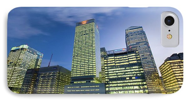 Canary Wharf In London Uk IPhone Case by Ashley Cooper