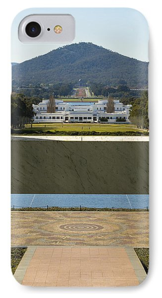 Canberra - Parliament House View Phone Case by Steven Ralser