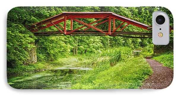 Canal Bridge IPhone Case by Debra Fedchin