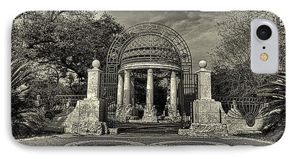 Cancer Survivors Plaza Black And White Phone Case by Joshua House