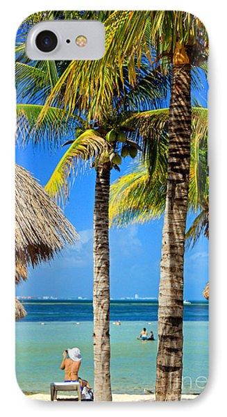 Cancun Beach IPhone Case by Charline Xia