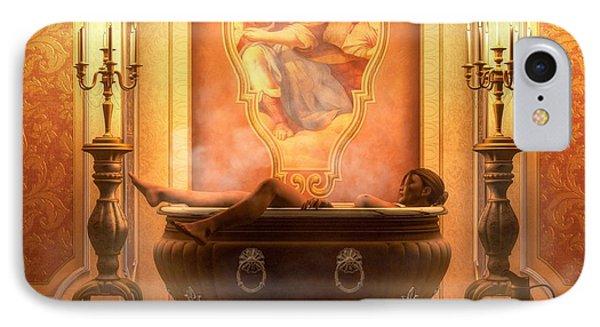 Candle Lit Bath IPhone Case by Kaylee Mason
